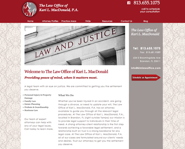 lawyer-website-brandon-fl-klm