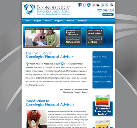 econologics-financial-advisors-website-design-tampa